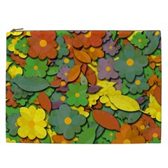 Decorative Flowers Cosmetic Bag (xxl)  by Valentinaart