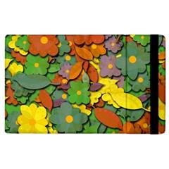 Decorative Flowers Apple Ipad 2 Flip Case by Valentinaart