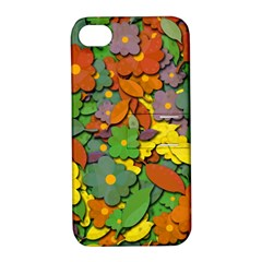 Decorative Flowers Apple Iphone 4/4s Hardshell Case With Stand by Valentinaart