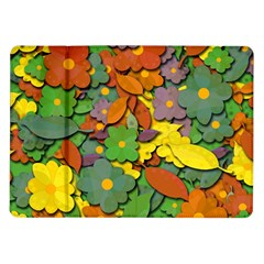 Decorative Flowers Samsung Galaxy Tab 10 1  P7500 Flip Case by Valentinaart