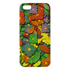 Decorative Flowers Iphone 5s/ Se Premium Hardshell Case by Valentinaart