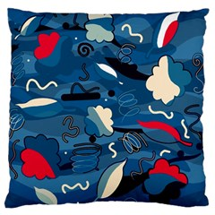 Ocean Standard Flano Cushion Case (one Side) by Valentinaart