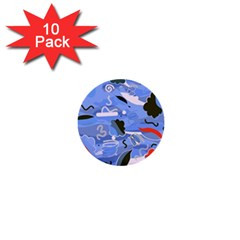 Sea 1  Mini Buttons (10 pack)
