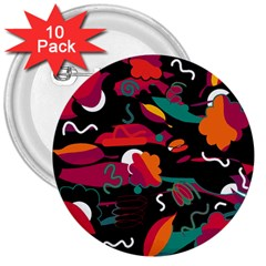 Colorful Abstract Art  3  Buttons (10 Pack)  by Valentinaart
