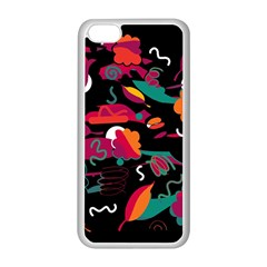 Colorful Abstract Art  Apple Iphone 5c Seamless Case (white) by Valentinaart
