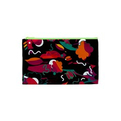 Colorful Abstract Art  Cosmetic Bag (xs) by Valentinaart