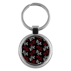 Elegance   Red  Key Chains (round)  by Valentinaart