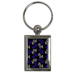 Elegance   Blue Key Chains (rectangle)  by Valentinaart