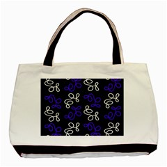 Elegance   Blue Basic Tote Bag by Valentinaart