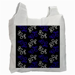 Elegance   Blue Recycle Bag (two Side)  by Valentinaart