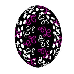 Elegance   Magenta  Ornament (oval Filigree)  by Valentinaart