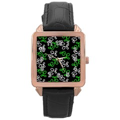 Elegance   Green Rose Gold Leather Watch  by Valentinaart