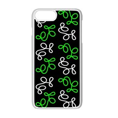 Elegance - green Apple iPhone 7 Plus White Seamless Case by Valentinaart
