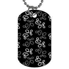 Elegance   Gray Dog Tag (two Sides) by Valentinaart