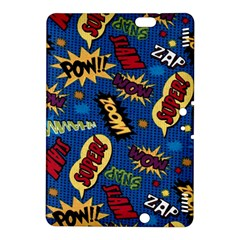 Fabric Comic Words Kindle Fire HDX 8.9  Hardshell Case by Onesevenart