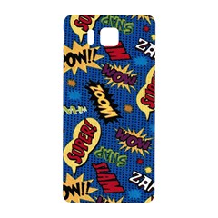Fabric Comic Words Samsung Galaxy Alpha Hardshell Back Case by Onesevenart