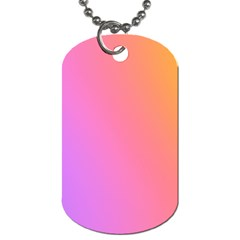 Blank Desk Pink Yellow Purple Dog Tag (two Sides) by AnjaniArt