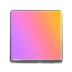 Blank Desk Pink Yellow Purple Memory Card Reader (square) by AnjaniArt