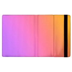 Blank Desk Pink Yellow Purple Apple Ipad 3/4 Flip Case by AnjaniArt