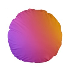 Blank Desk Pink Yellow Purple Standard 15  Premium Flano Round Cushions by AnjaniArt