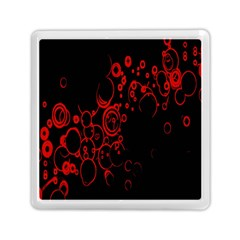 Abstraction Textures Black Red Colors Circles Memory Card Reader (square)  by AnjaniArt