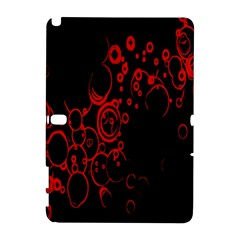 Abstraction Textures Black Red Colors Circles Galaxy Note 1 by AnjaniArt