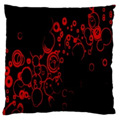 Abstraction Textures Black Red Colors Circles Standard Flano Cushion Case (one Side) by AnjaniArt