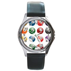 Billiards Round Metal Watch by AnjaniArt