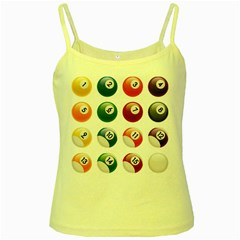 Billiards Yellow Spaghetti Tank