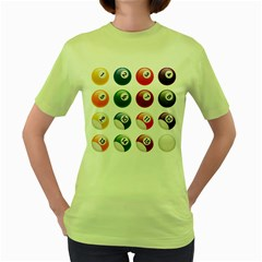 Billiards Women s Green T Shirt