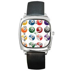 Billiards Square Metal Watch