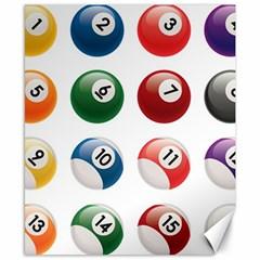Billiards Canvas 8  X 10  by AnjaniArt
