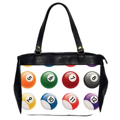 Billiards Office Handbags (2 Sides)  by AnjaniArt