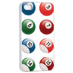 Billiards Apple Iphone 4/4s Seamless Case (white) by AnjaniArt