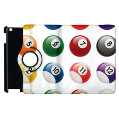 Billiards Apple Ipad 3/4 Flip 360 Case by AnjaniArt