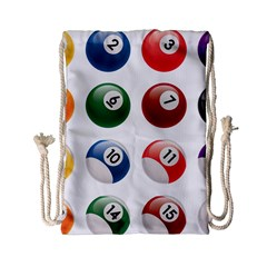 Billiards Drawstring Bag (small) by AnjaniArt