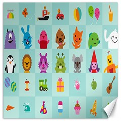 Animals Monster Music Canvas 12  X 12   by AnjaniArt