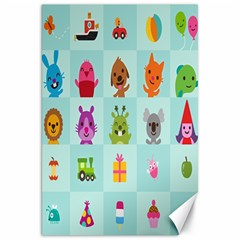 Animals Monster Music Canvas 20  X 30   by AnjaniArt