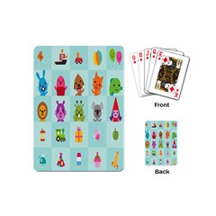 Animals Monster Music Playing Cards (mini)  by AnjaniArt