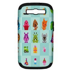 Animals Monster Music Samsung Galaxy S Iii Hardshell Case (pc+silicone) by AnjaniArt