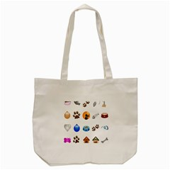 Cat Mouse Dog Tote Bag (cream)