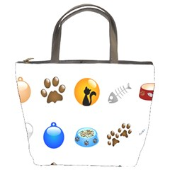 Cat Mouse Dog Bucket Bags