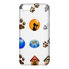 Cat Mouse Dog Apple Iphone 5c Hardshell Case by AnjaniArt