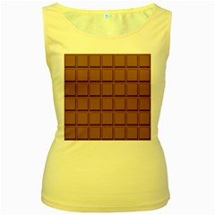 Chocolate Women s Yellow Tank Top