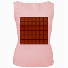 Chocolate Women s Pink Tank Top