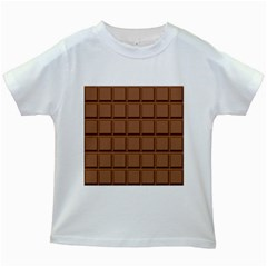 Chocolate Kids White T Shirts