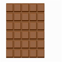 Chocolate Large Garden Flag (two Sides) by AnjaniArt