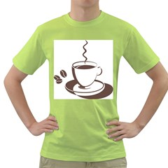 Coffee Beans Green T Shirt