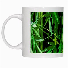 Bamboo Pattern Tree White Mugs
