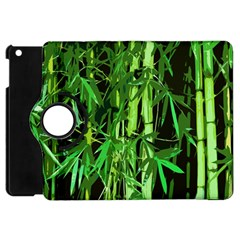 Bamboo Pattern Tree Apple Ipad Mini Flip 360 Case by AnjaniArt
